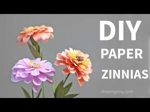 132 best youtube tutorials for paper crafts images on pinterest how to make zinnias paper flower from printer paper free template mightylinksfo