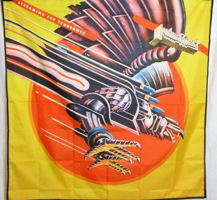 Judas Priest Screaming For Vengeance HUGE 4X4 banner poster tapestry cd album | eBay
