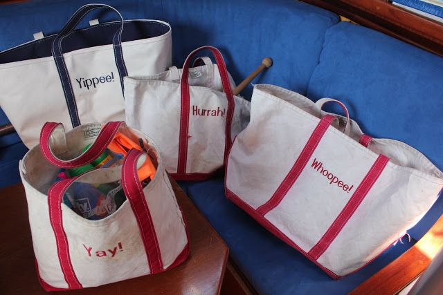 Salt Water New England: Canvas Boat Bags and The L.L. Bean Boat and Tote Bag