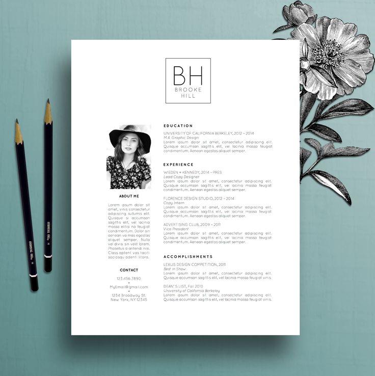 Modern Resume Template Professional CV Template, MS Word, Creative Resume Template, Simple Resume, Teacher Resume, Instant Download, Brooke