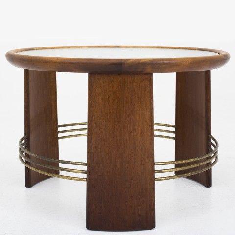 Art deco coffee table in mahogany
