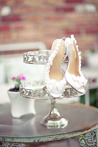 Love this #shoe shot on a #cake #stand.