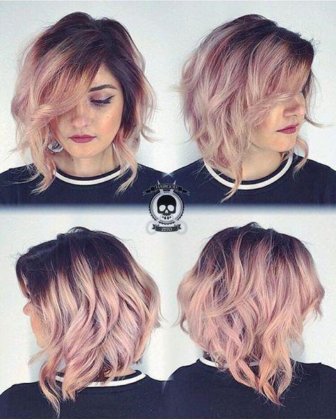 Haarfarben Ideen Für Kurze Haare 2017 Frisuren Pinterest