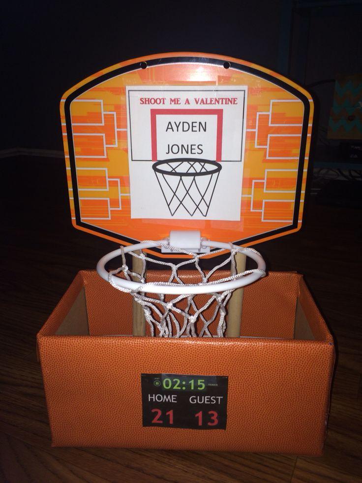Basketball Valentines Day Box Craft Ideas Pinterest
