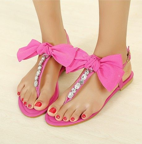 c658a61c15bb3e  grxjy5190031 Cute T-shape Bowknot Rhinestone Thong Sandal