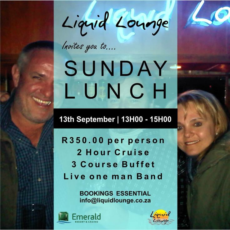 #SundayLunch on board #LiquidLounge #VaalRiver