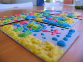 Manualidades para niños con pintura casera