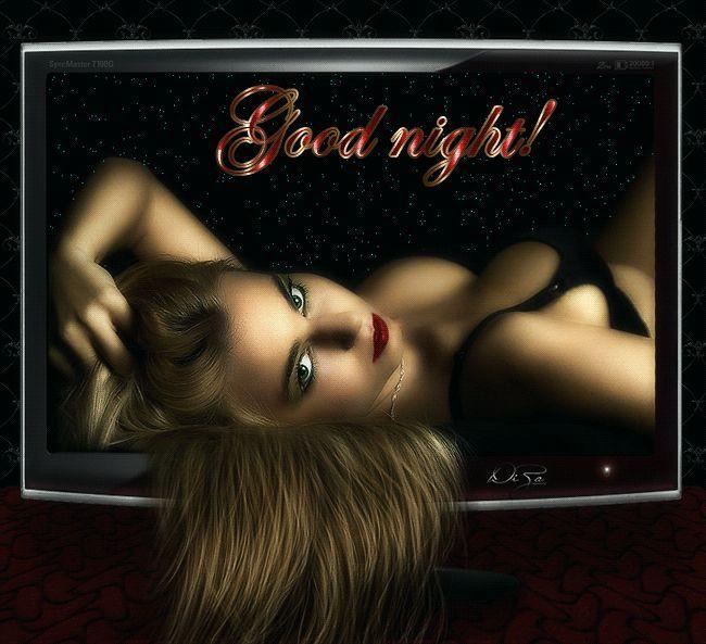 Щенок, онлайн анимационные картинки спокойной ночи мужчине
