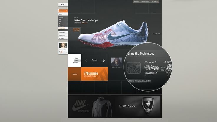 Nike website  by Kult House