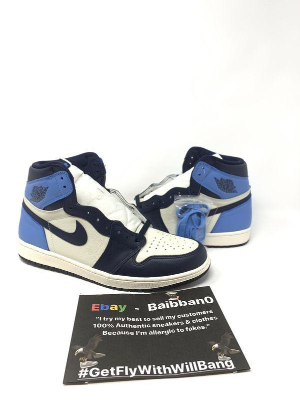 Nike Air Jordan 1 Retro High Og Sail Obsidian University Blue Unc
