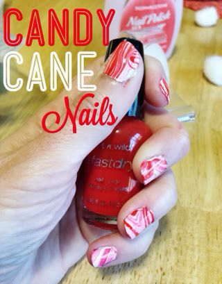 Little Gray Fox: Day 3: Candy Cane Nails