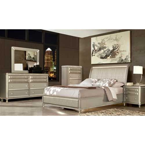 Riversedge Glam 7-Piece Bedroom Group