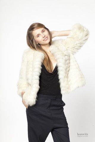 creamy-white fox jacket – horovitz