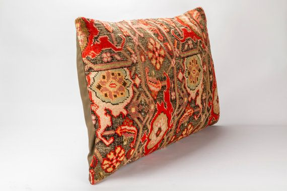 Vintage, Armenian Rug Pillow Cover,  20'' x 26.5'' (50 cm x 76 cm)