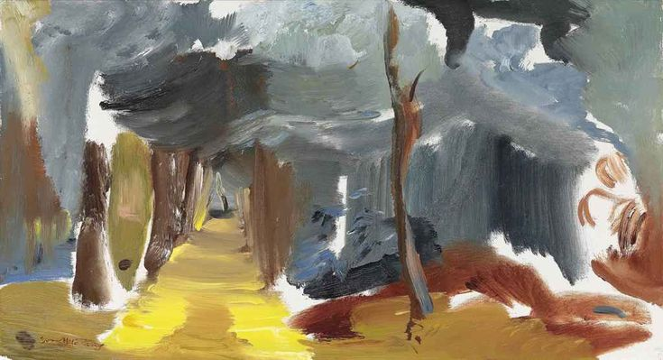 blastedheath: Ivon Hitchens (British, 1893-1979), Yellow Glade No. 1, 1951. Oil on canvas, 16 x 29½ in.
