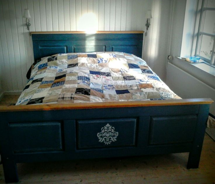 Homemade quilt and diy bed frame. My very own farmhouse bedroom.