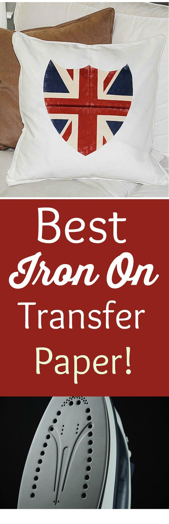 Best Iron On Transfer Paper! - Union Jack Shield Pillow Printable and Transfer Technique - The Graphics Fairy. I call this the Holy Grail of Iron On Transfer papers! Perfect for all of your DIY Decorating Projects and the finish and texture is far better than all the other brands!