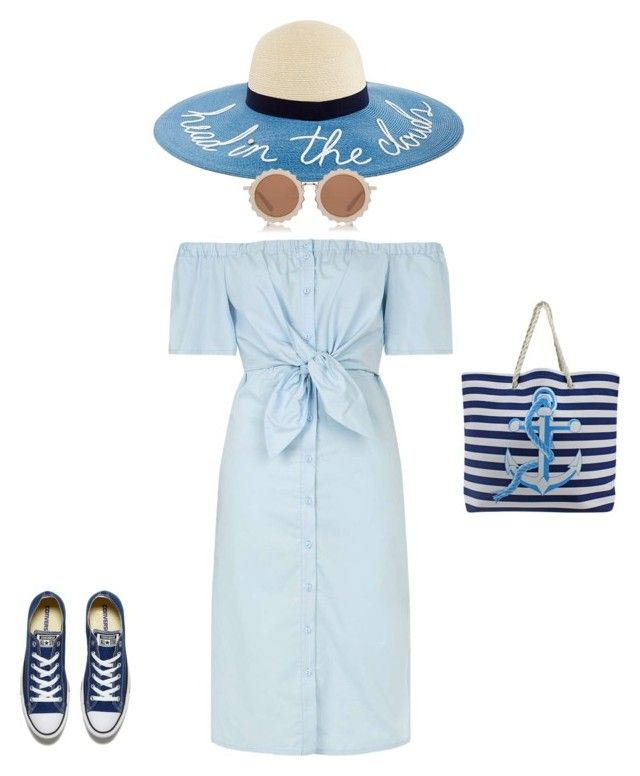 """""""Summer outfit"""" by georgi-medrea on Polyvore featuring Topshop, Converse and House of Holland"""