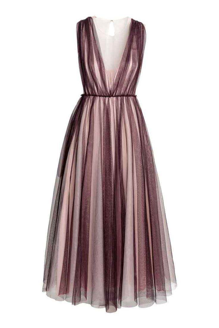 Tulen jurk - Pruimenpaars/poeder - DAMES | H&M NL