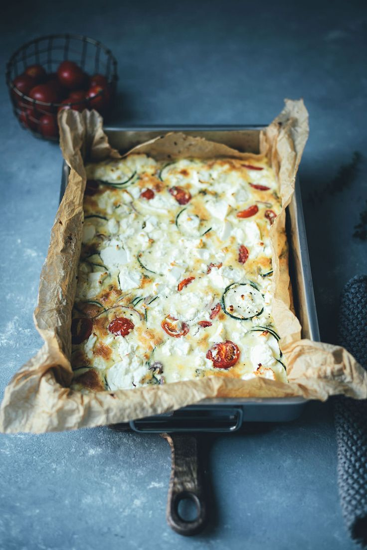 Fritada de verão com abobrinha, tomate e queijo feta   – Lunch | Meal Prep | Mittagessen im Büro | Picknick