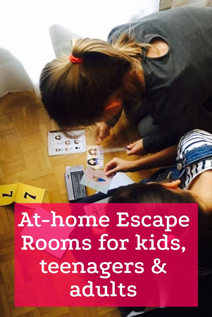 Athome escape rooms for all ages kids teenagers