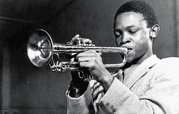 A young Hugh Masekela