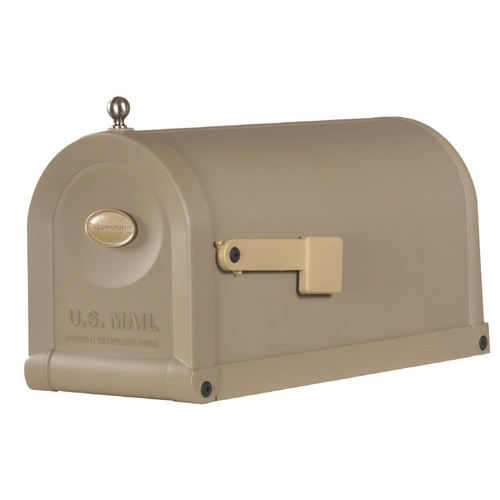 Rubbermaid mailbox: Taupe Treasures, Rubbermaid Mailbox