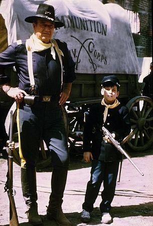 Rio Lobo (1970) - John Wayne and son Ethan.