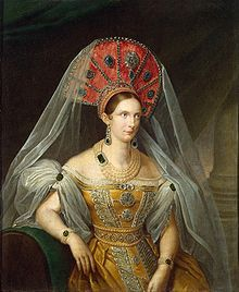 Alexandra Feodorovna (Charlotte of Prussia) (1798 - 1860). Empress of Russia from 1825 until her husband's death in 1855. She was married to Nicholas I, who she had seven children with. Her husband forced a rigid schedule on her, leaving no time for her to devote to being herself. He wished for her to be only an adoring wife and devoted mother.