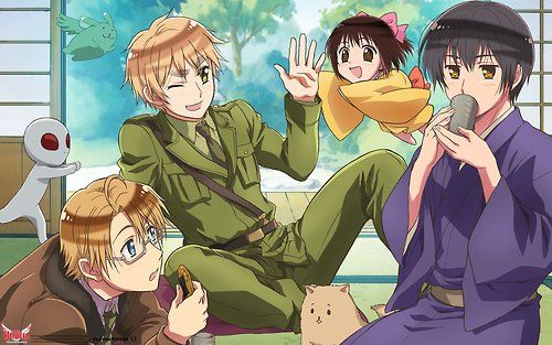 Hetalia the Beautiful World wallpapers OMG TONY IN THE BACKGROUND AND SO IS MINT FLYING BUNNY!!!!!