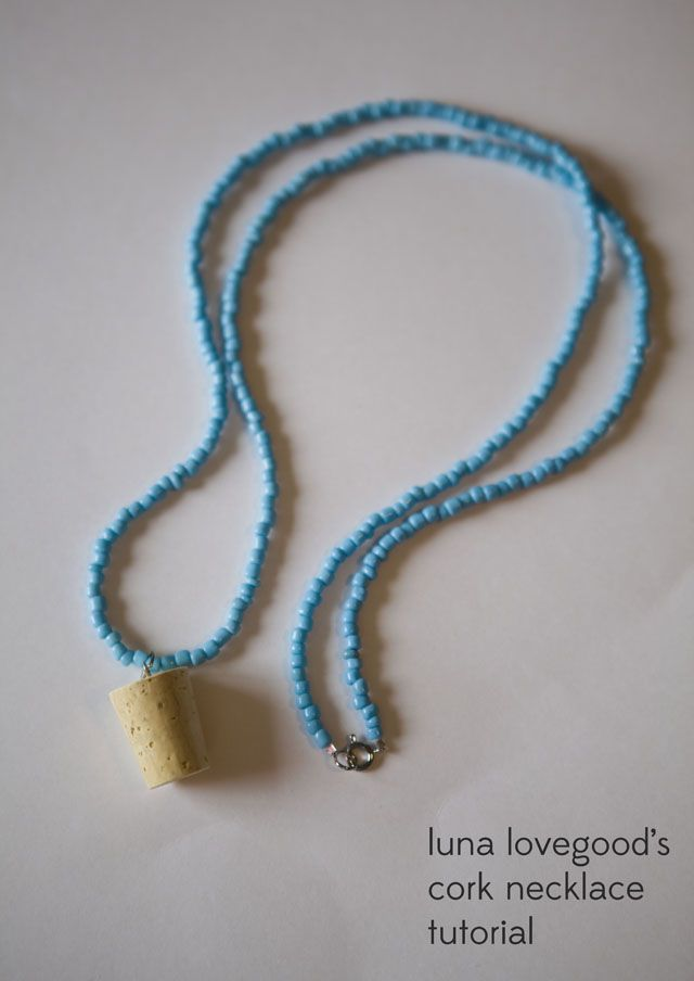 LUNA LOVEGOOD'S  CORK NECKLACE  TUTORIAL