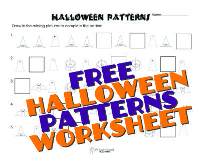 Squarehead Teachers: Halloween Patterns- draw in the missing piece ...