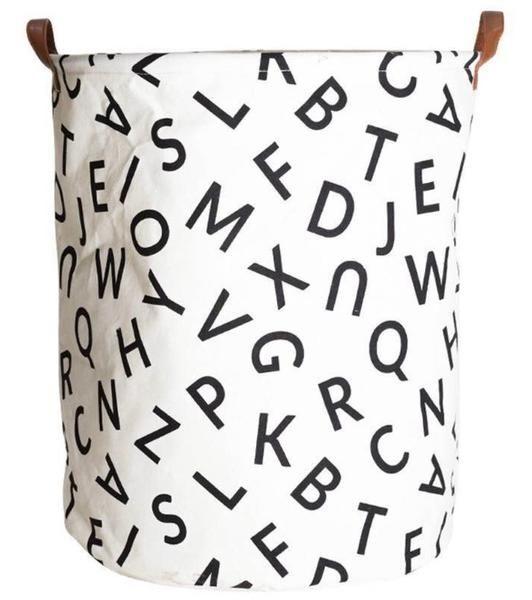 Extra Large Alphabet ABC Laundry Hamper/ Laundry Basket/ Nursery Home Decor/ Toy Storage Bin