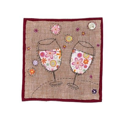 I love how the wine is a pattern! www.sharonblackman.co.uk