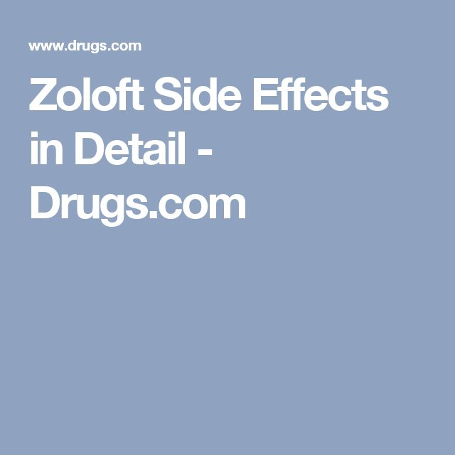 Zoloft adverse effects
