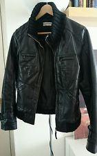 Black ICHI real leather jacket S