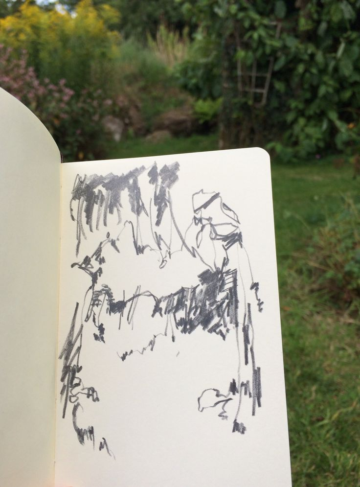 EXERCISE: drawing a natural form. Just follow the darks and explore what marks you can make without looking at your page too much. Alice Sheridan #DrawingAugust
