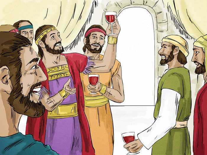 Jesus tells a parable about a rich man and Lazarus, a beggar, who both die. (Luke 16:19-31): Slide 2
