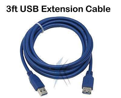 2x 3ft USB 3.0 A Male to A Female Extension Extender Cable Cord for PC or MAC From AllCityImports