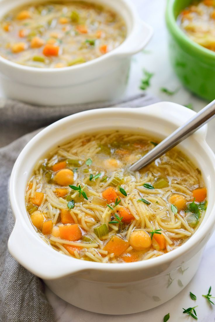 This vegan chicken noodle soup is full of all the good