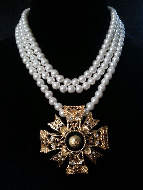 Maltese Necklace Cross Firefighter