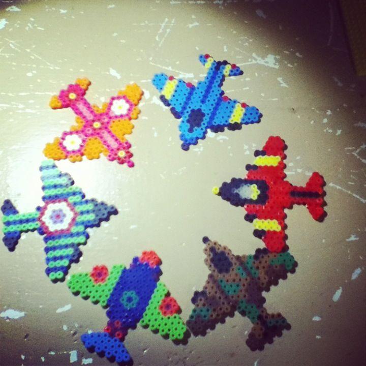 Planes perler beads by Tiara Cunningham
