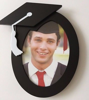 Fits 5 in x 7 in Photo Frame is Black with White Tassel Looking for that perfect frame for your graduation picture? Well, this picture frame would be just that!!! Or know of someone graduating soon? T