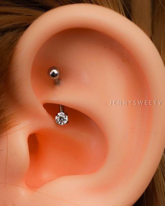 daith piercing rook piercing snug piercing, helix piercing,helix earring,cartilage earring, cartilage piercing 16g base simple