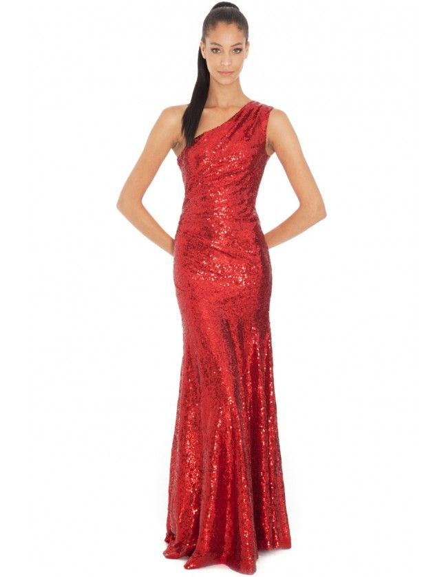 One-Shoulder-Sequin-Sheath-Maxi-in-the-Style-of-Nicole-Scherzinger-Red-D1874-5
