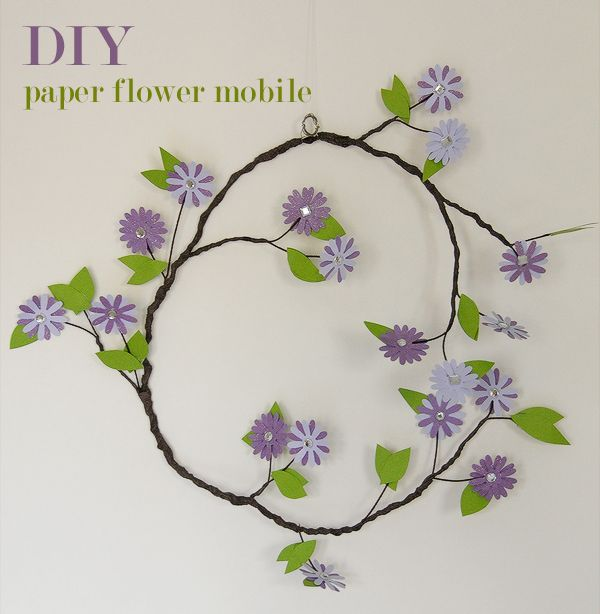 DIY Paper Flower Mobile | Hellobee,can change it up to have so many different types of flowers,birds etc.