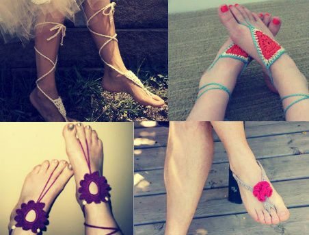 Top 10 Free Crochet Patterns for Barefoot Sandals. What are they for? Haha