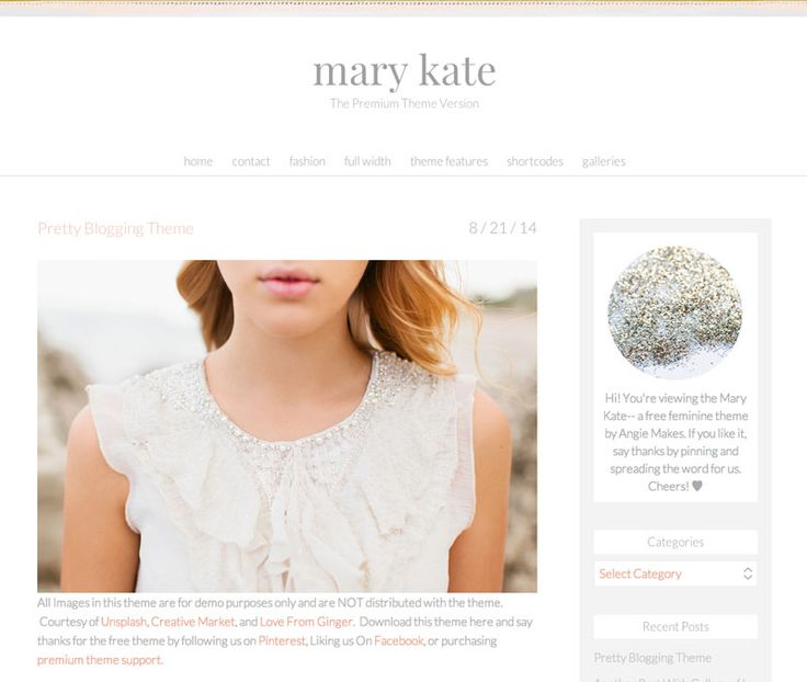 Meet the Mary Kate, a Premium, Feminine Wordpress Theme for Women Bloggers, Women Entrepreneurs and Women Who Want a Pretty Blog Design.