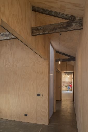 The decision to re-assemble with materials salvaged on site significantly reduces the embodied energy, transport cost