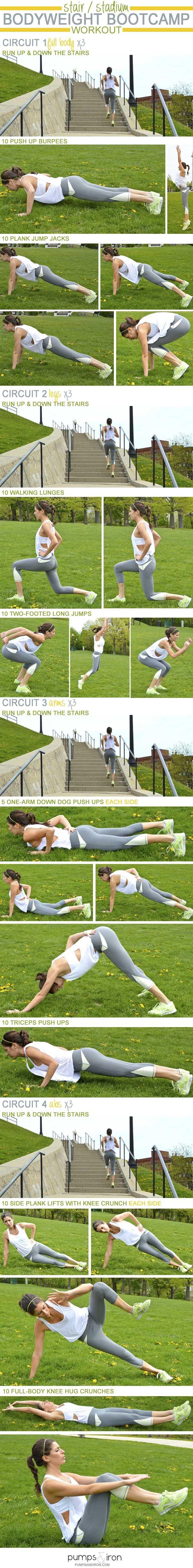 Stair/Stadium Bodyweight Bootcamp Workout